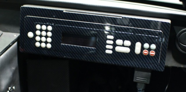 Motor-sport carbon fibre control panel identical to Capstone CHP units!
